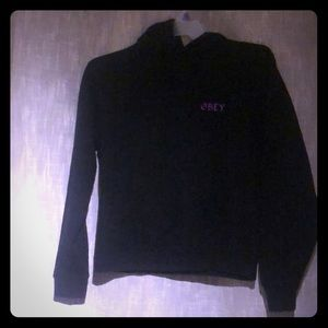 Obey women's black sweatshirt